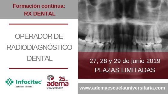 Curso RX Dental: Operador de radiodiagnóstico dental