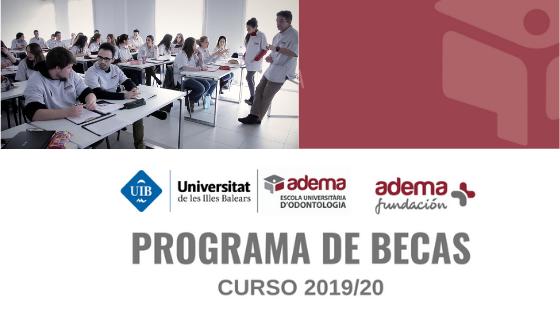 Abierto el plazo de convocatoria de becas para estudiantes universitarios de la Escuela Universitaria ADEMA