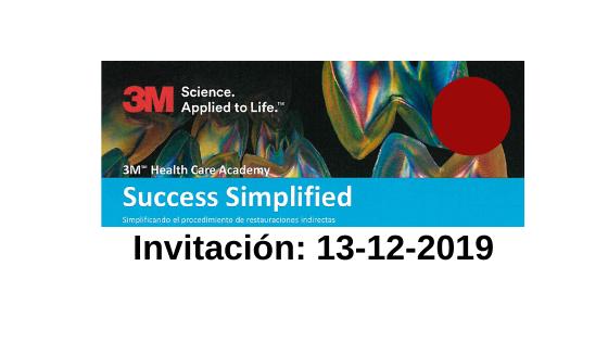 AGENDA: 13-12-2019: Master class para conocer en qué consiste el «Succes Simplified»-3M