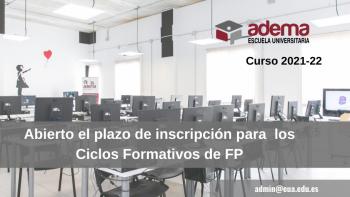 Enlace permanente a:Inscripción abierta – Ciclos Formativos de FP Curso 2021-22