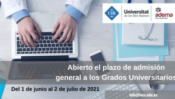 Enlace permanente a:Plazo abierto de admisión a los Grados Universitarios Curso 2021-22